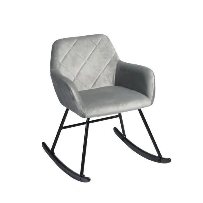 fauteuil a bascule scandinave rocking chair velo