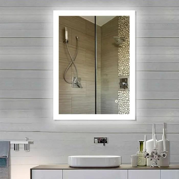 Miroir Mural Led 90 70 Cm Miroir Salle De Bain Vertical Suspendu Style Commercial Achat Vente Miroir Salle De Bain Soldes Sur Cdiscount Des Le 20 Janvier Cdiscount