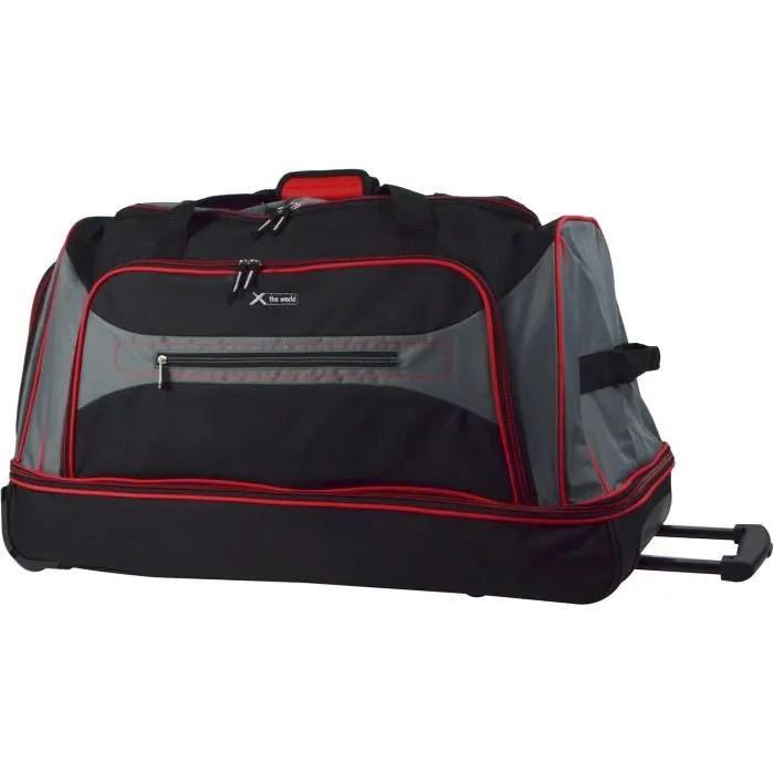 lys sac de voyage a roulettes pas cher sport femme homme system trolley souple 2 roues 76 cm multicouleurs