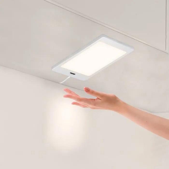 lampe de panneau lumineux a led sous meuble de cuisine avec interrupteur de capteur de main eclairage blanc neutre 4000k enuotek