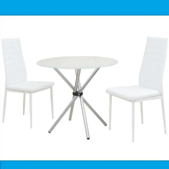 table et chaise de cuisine en verre