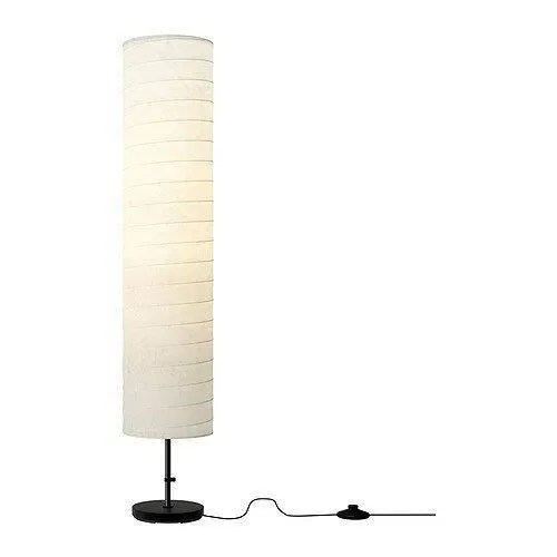 ikea holmo lampadaire avec abat jour en papier lumiere tamisee