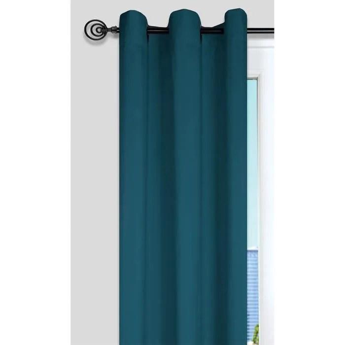 rideau nelson 100 polyester 135 x 240 cm bleu can