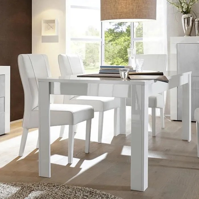 table a manger extensible blanc laque