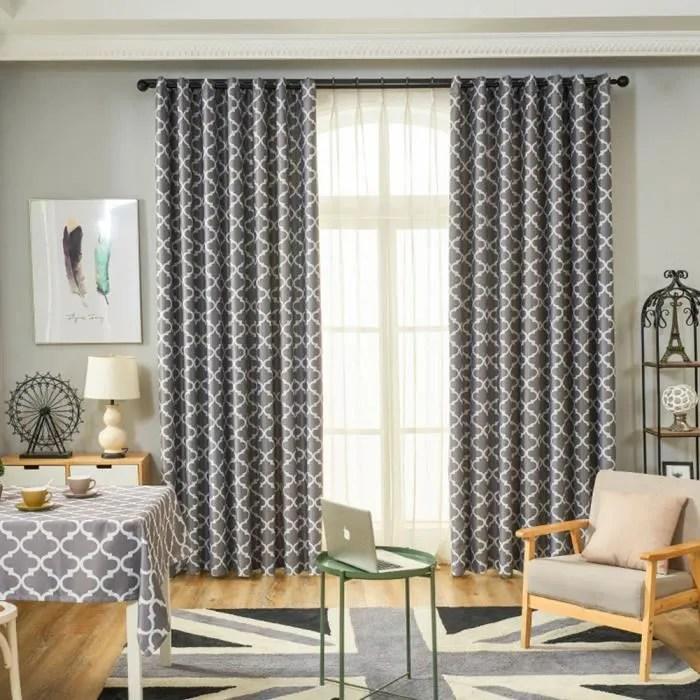 impression simple d ellipse de rideau en fenetre moderne pour la chambre a coucher de salon gris tige d usure 100cm 150cm
