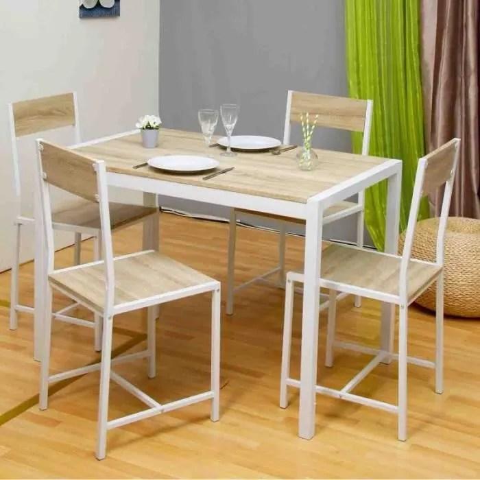 coin repas cuisine table et 4 chaises