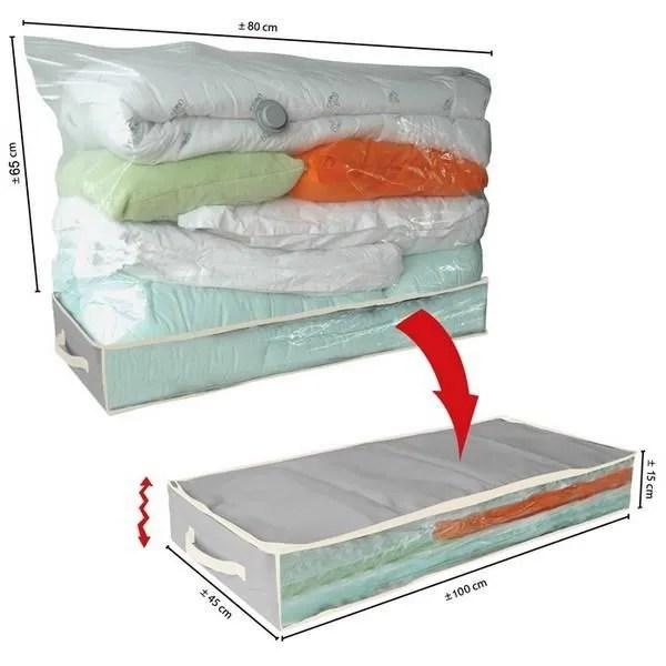 housse de rangement housse de rangement sous vide pour dessous de lit