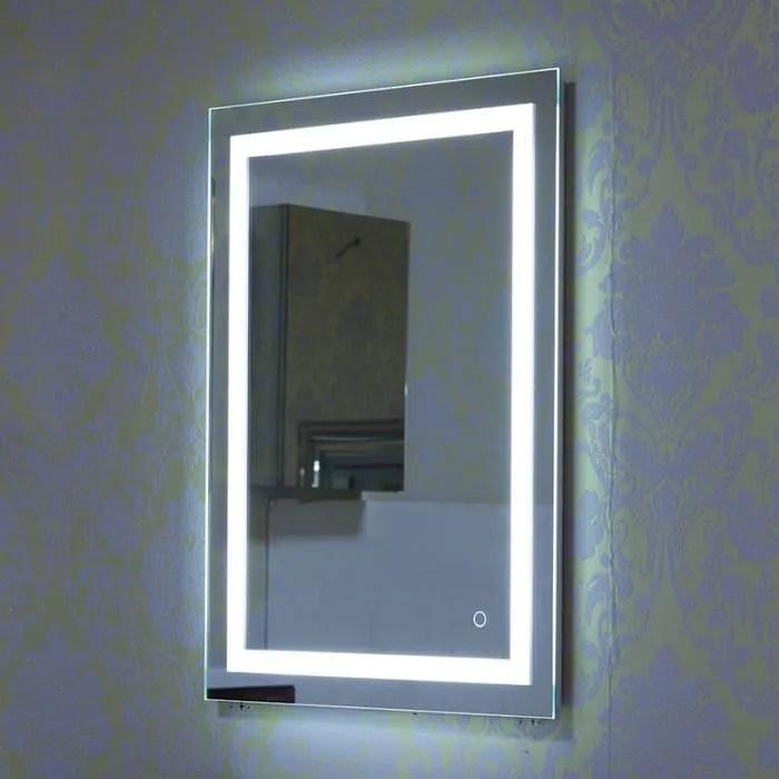 Armoire Miroir Salle De Bain Avec Eclairage Achat Vente Pas Cher