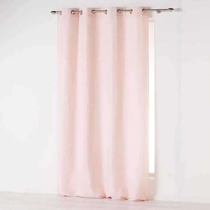 double rideau rose pale