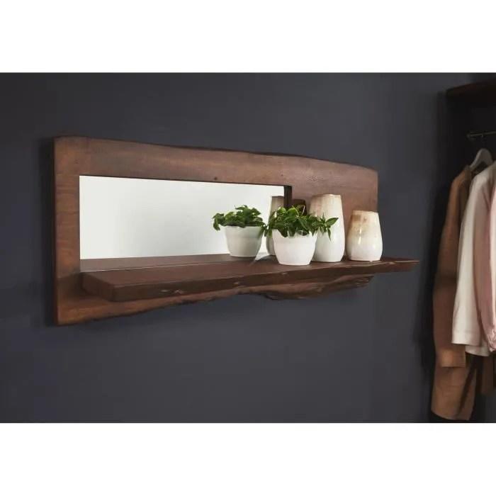 etagere murale bois massif d acacia laque brun pure edge 805