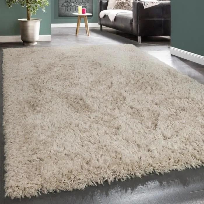 tapis poils hauts moelleux moderne shaggy style fl