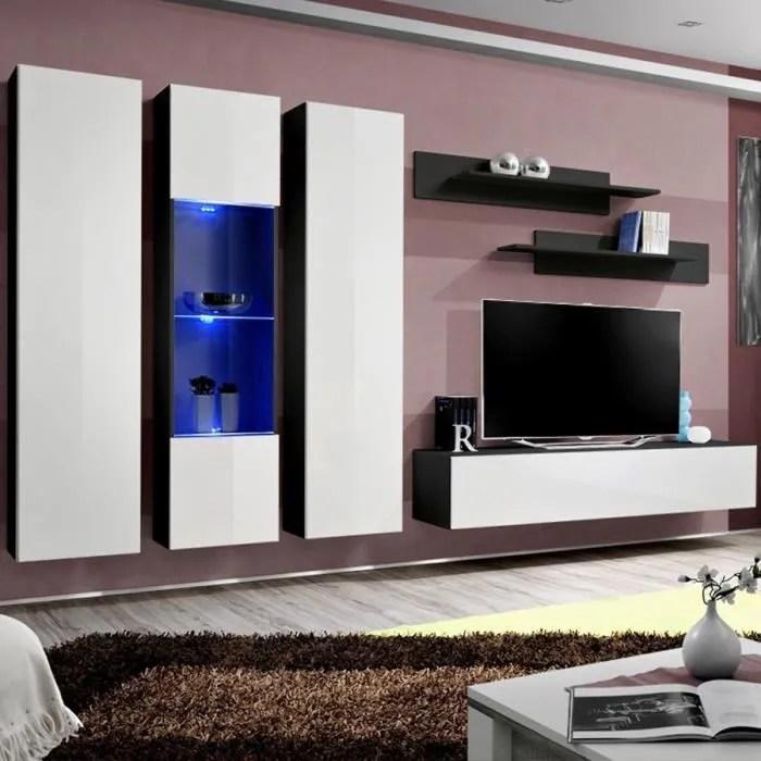 mur tv design noir et blanc mazara noir l 310 x p