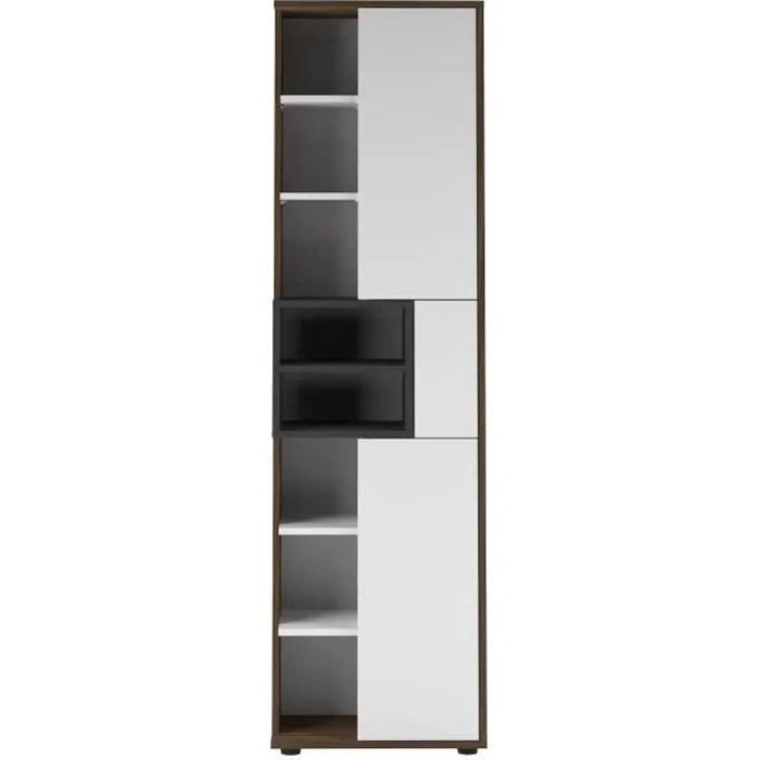 colonne kube noyer et blanc 50 x 182 2