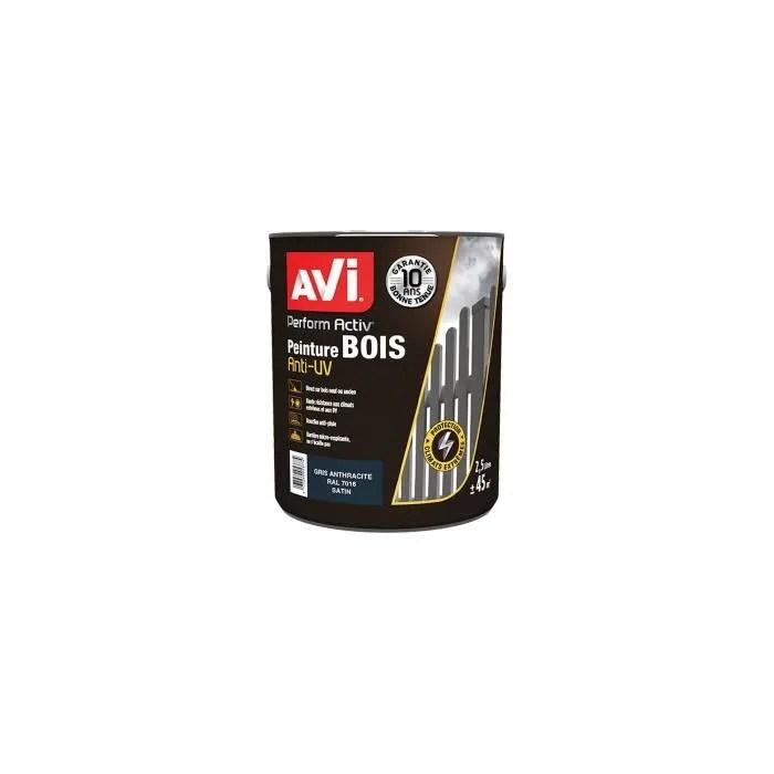 bois gris anthracite satin 2 5l