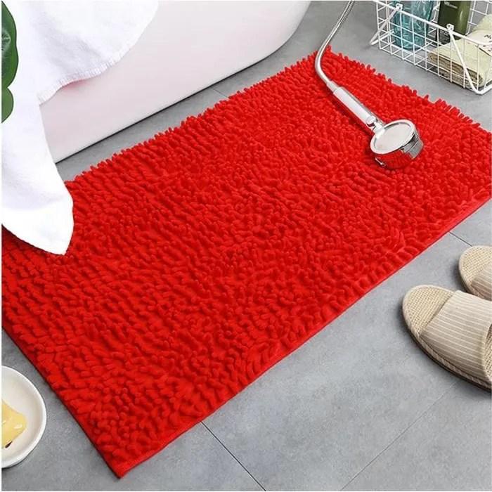 chenille super absorbant tapis de bain antiderapan