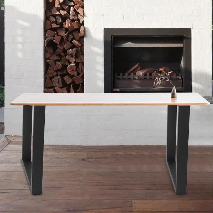 2pcs 40 43cm pieds de table supports en acier industriel pied de bureau pour meubles domestiques