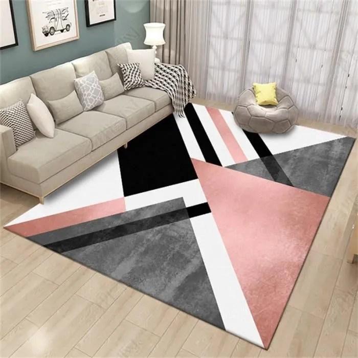tapis salon rose