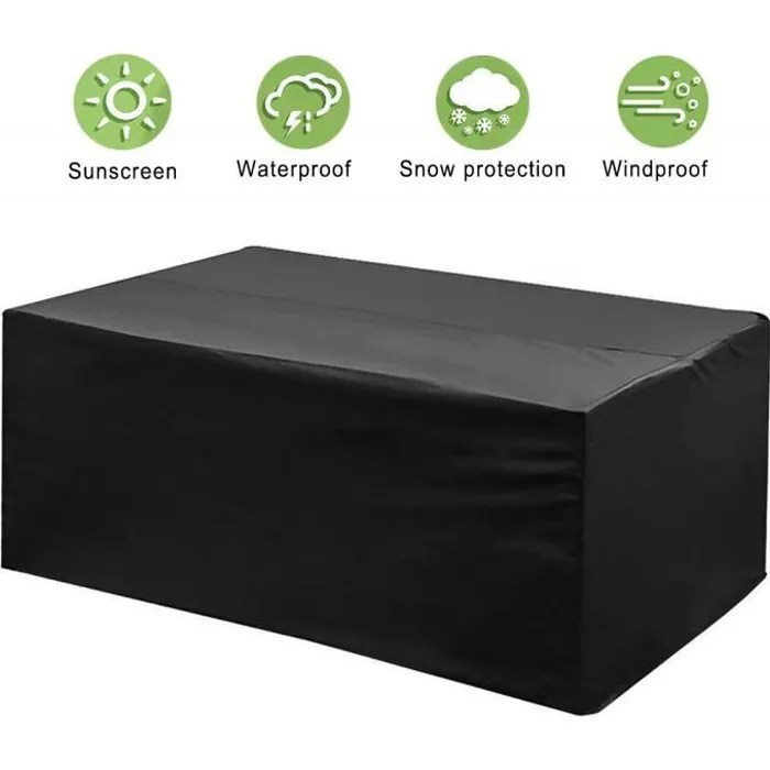 housse table de jardin phixilin housse mobilier jardin 210t polyester impermeable bache salon de jardin protection antipoussiere