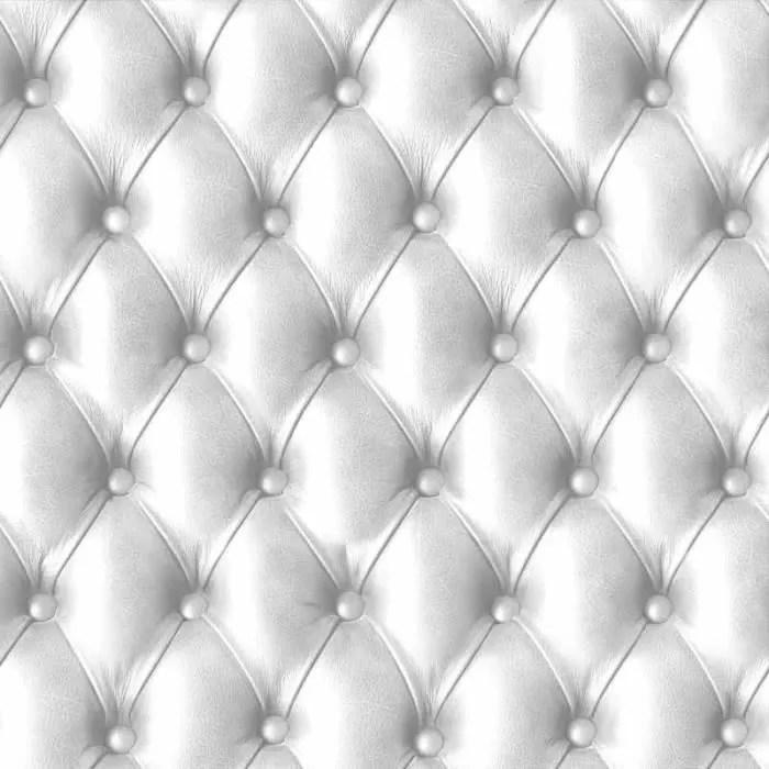 papier peint capitonne blanc aspect cuir