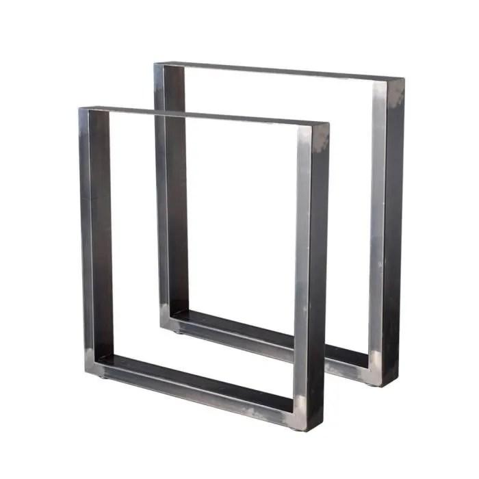 2 Pieds De Table En Acier Vernis Format Rectangulaire 70x72cm Pieds Pour Meubles Pieds De Table Metal Achat Vente Pied De Meuble 2 Pieds De Table En Acier V Cdiscount