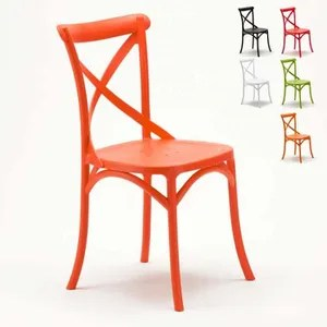 chaise de cuisine orange achat