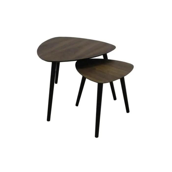tables gigognes en bois la chaise longue marron pr