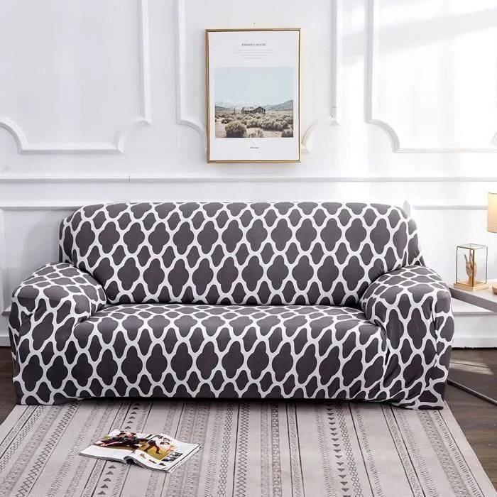 235 310cm housse de canape 4 places avec accoudoirs housse de fauteuil et canape extensible couverture de canape 4 places gris