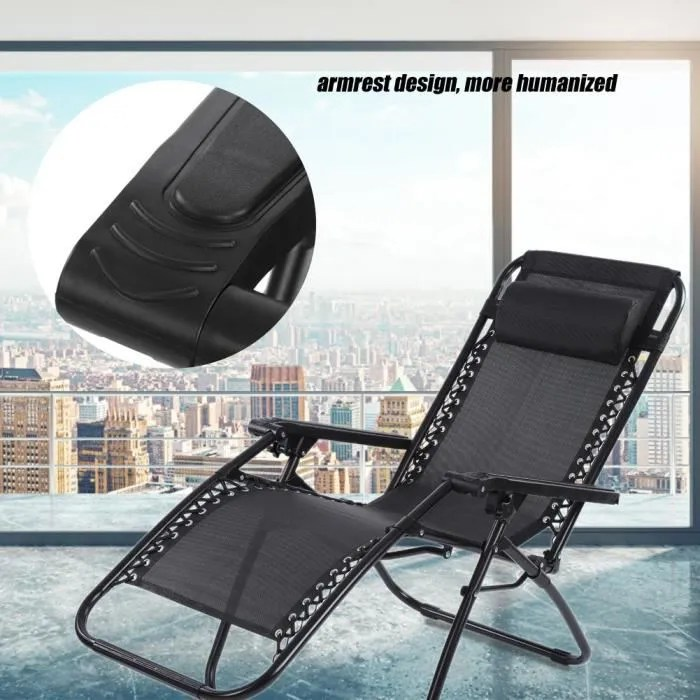 chaise fauteuil inclinable pliant