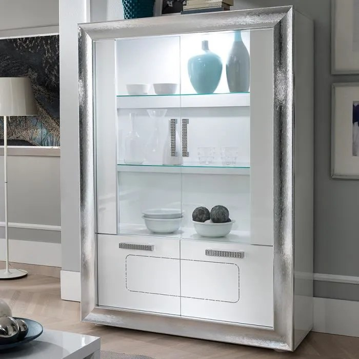 vaisselier led blanc laque design