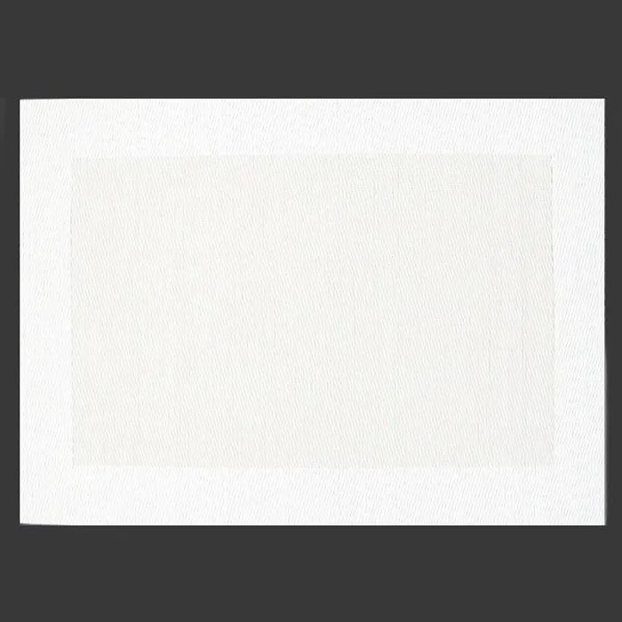 2 sets de table pvc borde blanc nacre