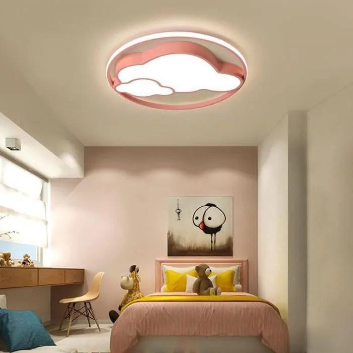enfant led plafonnier rose lampe de plafond nuage