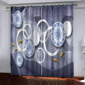 https www cdiscount com maison r double rideau bleu occultant html