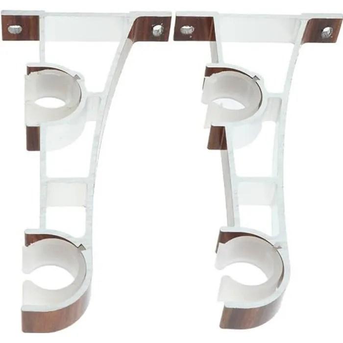 rideau double rideaux support a double tringle a