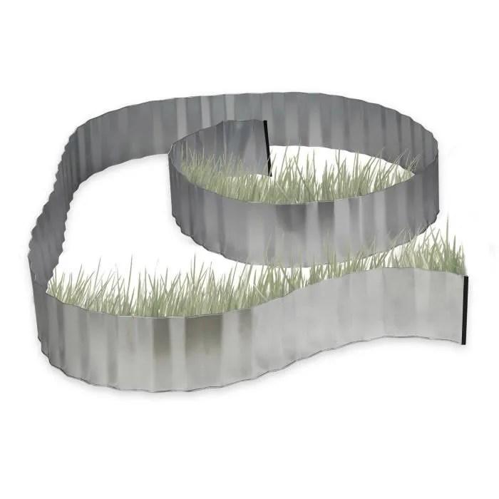 relaxdays bordure de jardin metal galvanise pour m