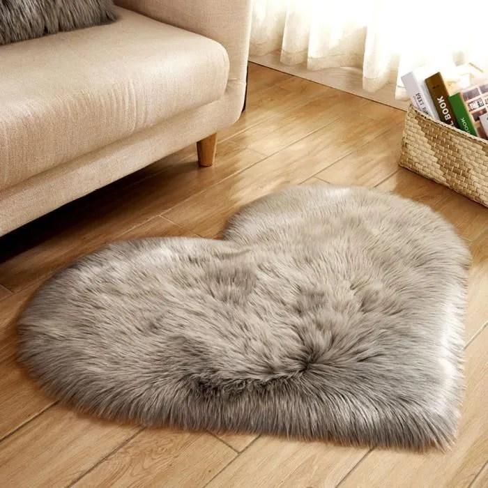 tapis en peau de mouton imitation laine tapis de t