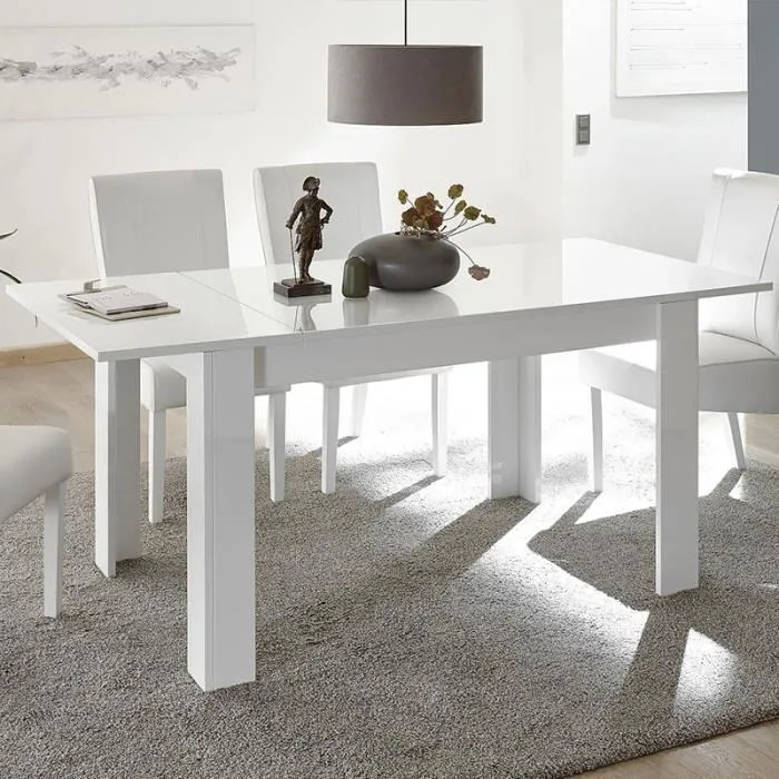 table a manger 180 extensible design blanche urban blanc l 228 x p 90 x h 79 cm
