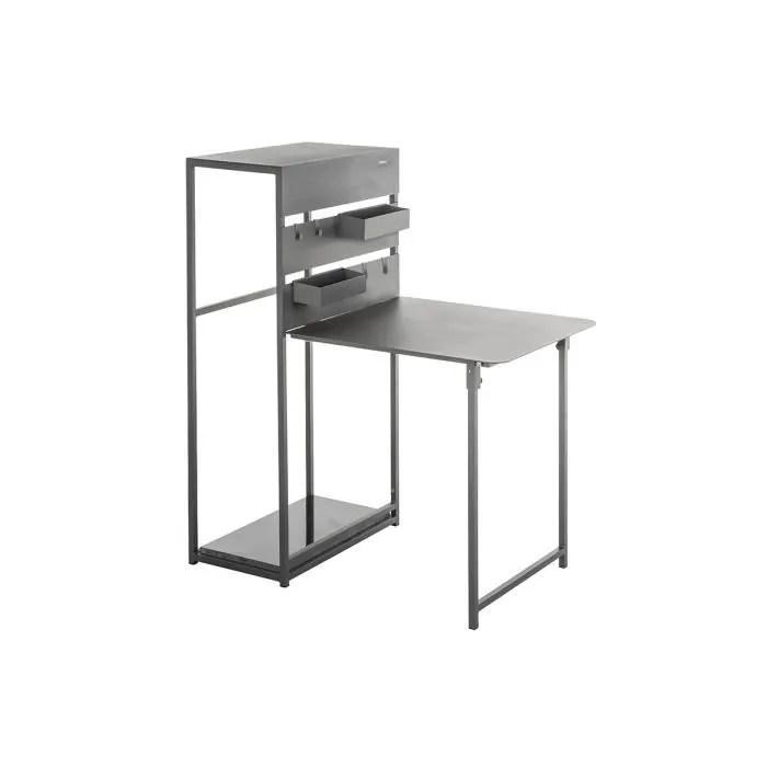 table balcon pliante fira graphite 3 places hesp