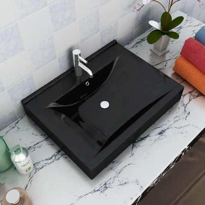 Vasque Poser En Ceramique Noir Percage Pour La Robinetterie 60x46cm Lavabo Haute Qualite Moderne Achat Vente Lavabo Vasque Vasque Poser En Ceramique Cdiscount