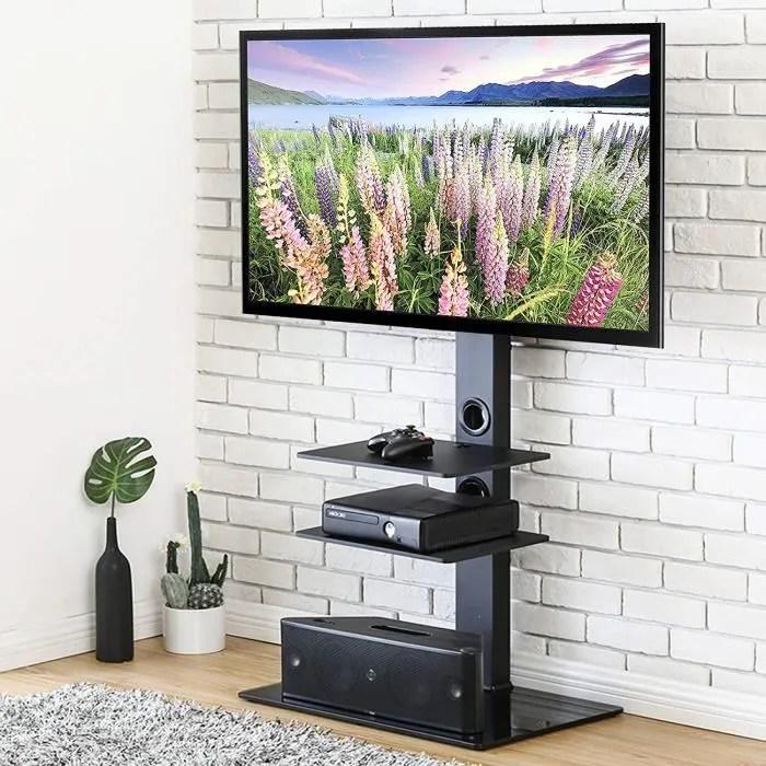 meuble tv avec support pivotant cantilever pour te