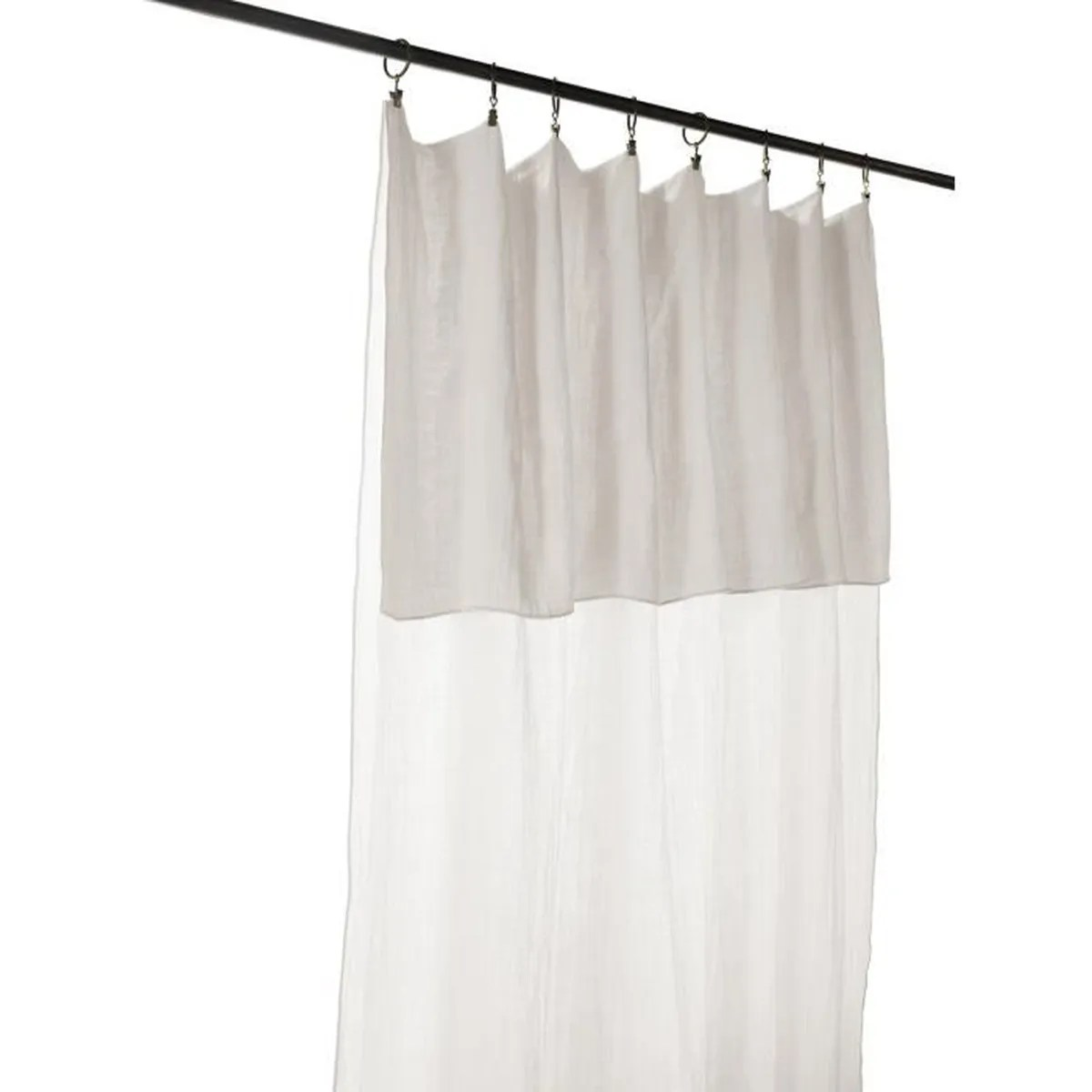 rideau gaze de coton blanc