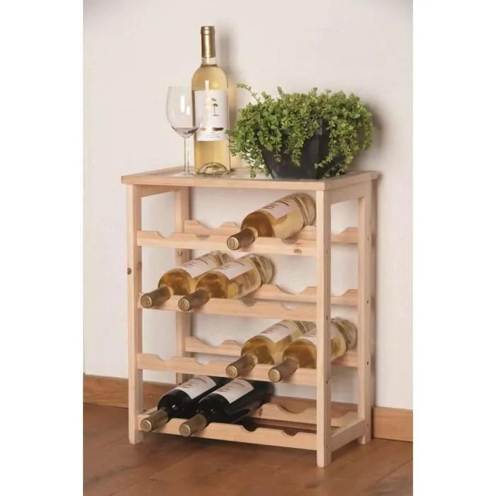 casier 16 bouteilles de vin en bois