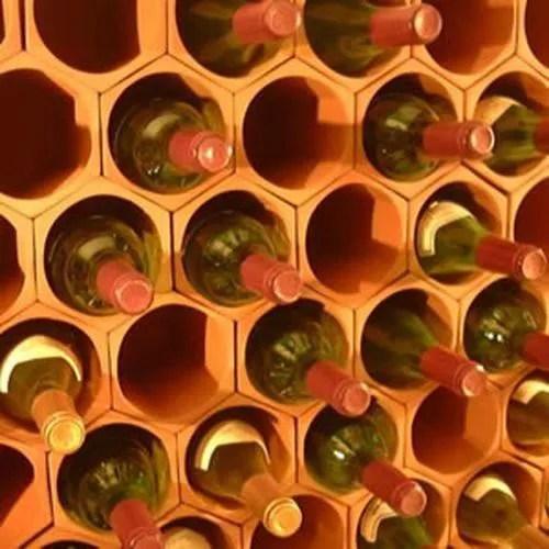 casier a vin en terre cuite