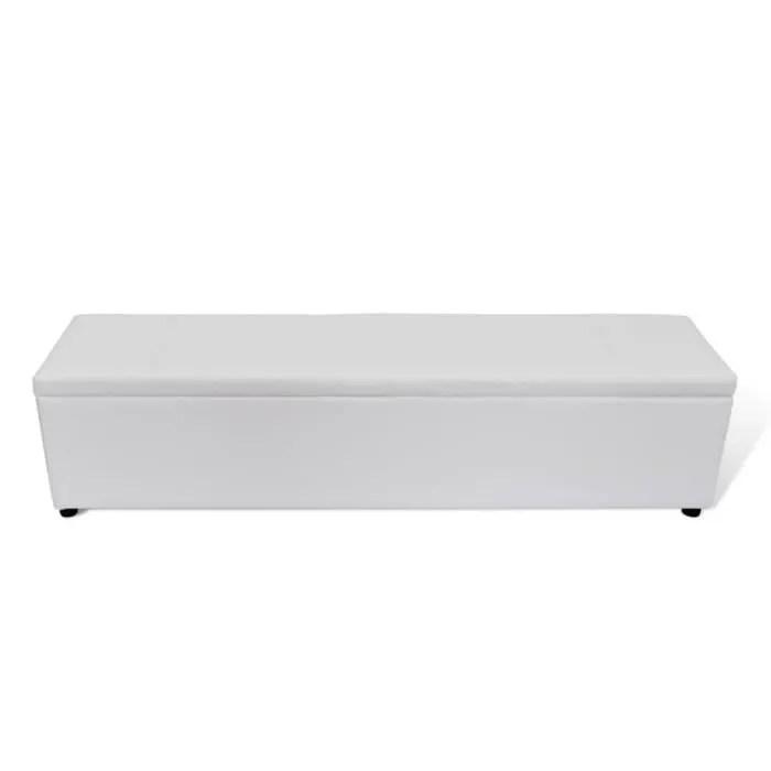 banc banquette coffre de rangement blanc taille large banc d exterieur chaise de jardin