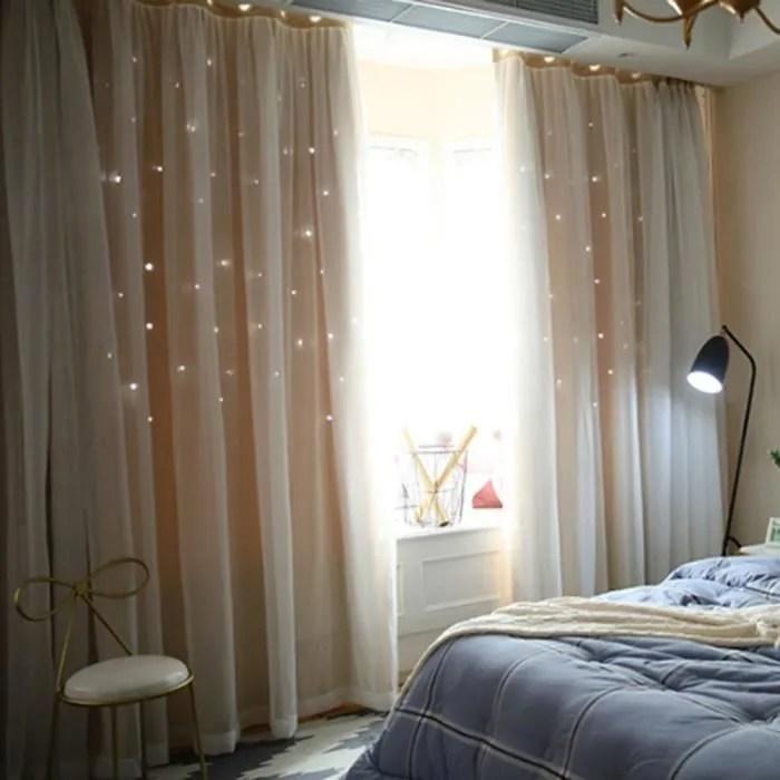 ueb rideaux salon de fenetre ombrage etoile cachee