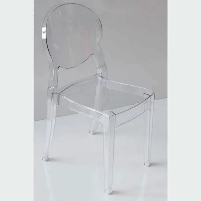 chaise salle a manger transparente