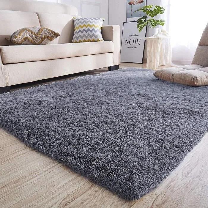 160x200cm tapis de salon shaggy anti derapage abso