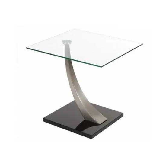 design triomph metal et verre 55x55cm