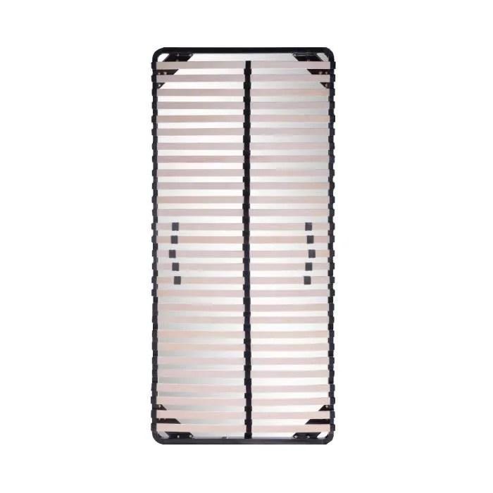Sommier A Lattes 90x200 Resistant Acier Et Bois Fermete Reglable Demontable Achat Vente Sommier Cdiscount