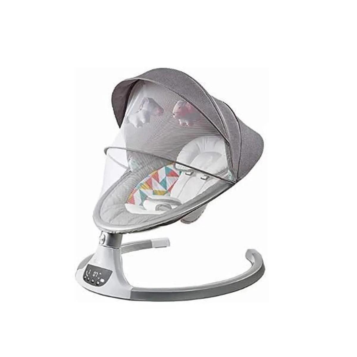 transat electrique bebe alpha gris