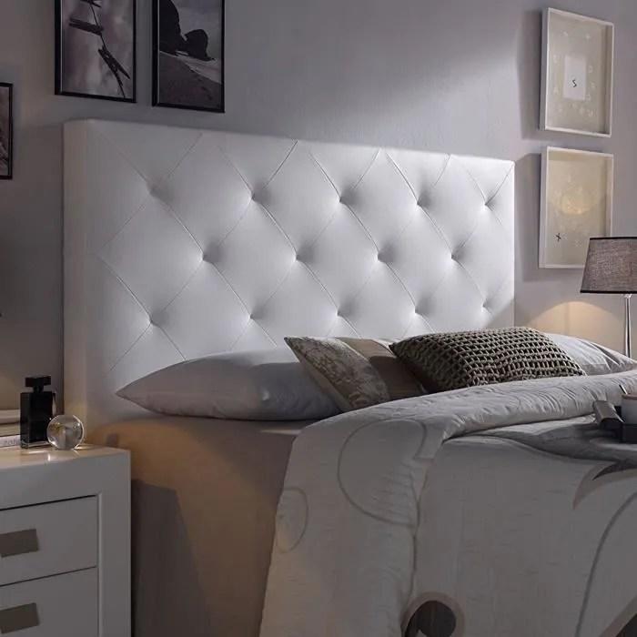 vs venta stock tete de lit rombo 150x60 blanc